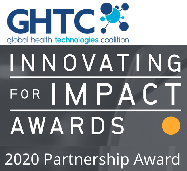 GHTC logo and Innovation award notice